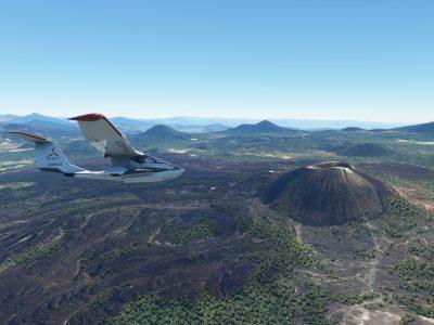 Paricutin volcano in Microsoft Flight Simulator