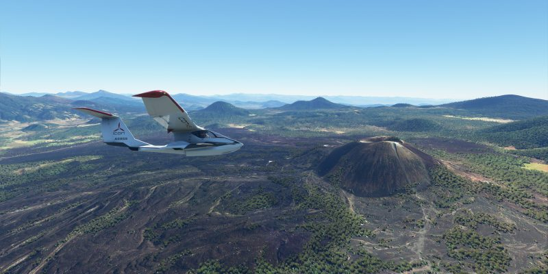 Paricutin volcano in Microsoft Flight Simulator