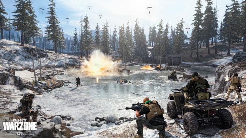 Warzone explosion